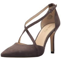 Nine West Womens Moria Pointed Toe Ankle Strap Classic Pumps