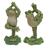 Design Toscano Boogie Down, Dancing Frog Statues: Set of Two