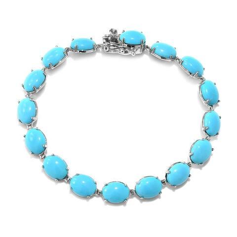Gold Sleeping Beauty Turquoise Bracelet Size 7.25 Inch ct 26.7 - Bracelet 7.25''