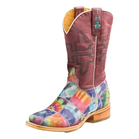 Tin Haul Western Boots Womens Trippy Check Multi