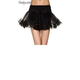 Double Layer Lace Trimmed Petticoat, Lace Petticoat