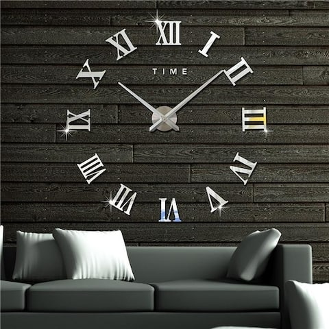 Frameless Wall Clock Home Decorations