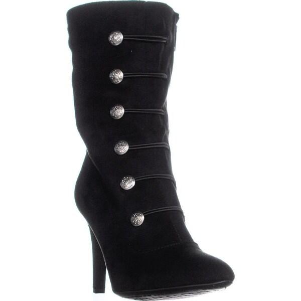 Rialto Womens Chung Fabric Almond Toe Mid-Calf Fashion Boots