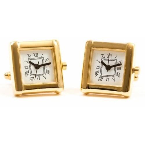 Elegant Gold Watch Cufflinks