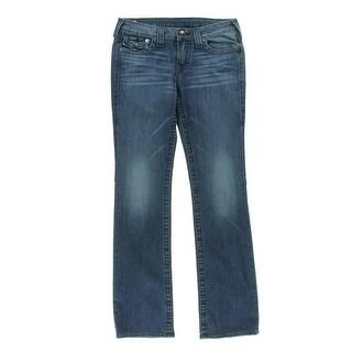True Religion Womens Billy Low-Rise Medium Straight Leg Jeans