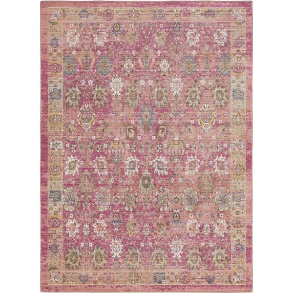 Surya GER2326-211710 Germili 3' x 8' Runner Synthetic Power Loomed Traditional A - Pink - N/A