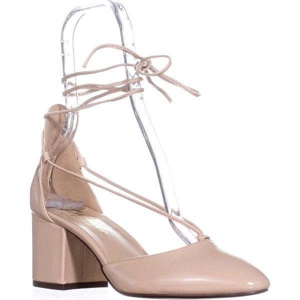 Callisto Corda Lace-up Heels, Nude Patent - 7.5 us