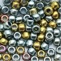 Toho Round Seed Beads 6/0 721 - Galvanized Blue Gold (8 Grams) - Thumbnail 0