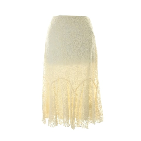 Lauren Ralph Lauren Cream Lace Overlay Skirt 12