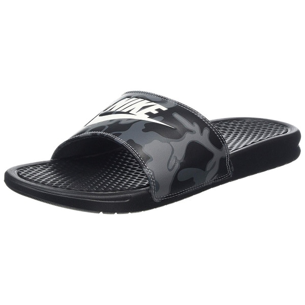 purchase cheap 1dcad a1946 Nike Benassi Jdi Print Men  x27 s Slides Black Summit White 631261-