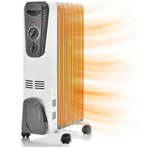 1500W Electric Oil Heater Portable Thermostat Radiant Heater