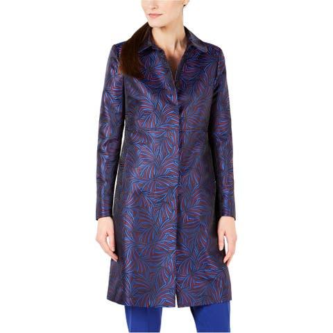 Anne Klein Womens Jacquard Coat