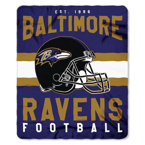 Baltimore Ravens Blanket 50x60 Fleece Singular Design
