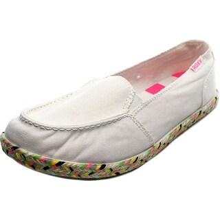 Roxy Lido Jute II-J Women Moc Toe Canvas Loafer
