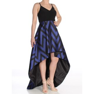 Link to BETSY & ADAM Black Spaghetti Strap Above The Knee Hi-Lo Dress 6 Similar Items in Petites
