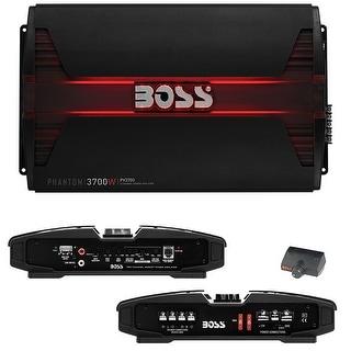 Boss PHANTOM 3700 Watts 5 Channel Power Amplifier Remote Subwoofer Level Control