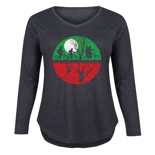 3c15ef81619 Shop The Chase Christmas - Christmas Pop Culture Ladies Plus V-Neck Long  Sleeve Tee - Free Shipping On Orders Over  45 - Overstock.com - 25610715