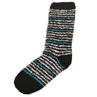 Soft & Cozy Girls Black Contrast Thin Stripe Patterned Socks 9-11