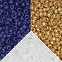 Exclusive Beadaholique Designer Palette, Miyuki Seed Bead Mix, Round 11/0, 25.5 Grams, Tortuga