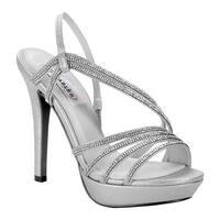 Dyeables Women's Dahlia Platform Sandal Silver Shimmer