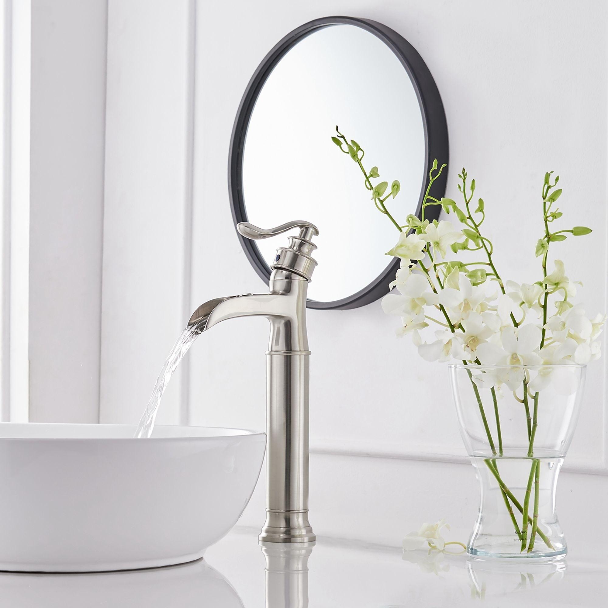 Shop Nickel Waterfall Bathroom Sink Faucet Overstock 31591943,Home Decor Stores In Mcallen Tx