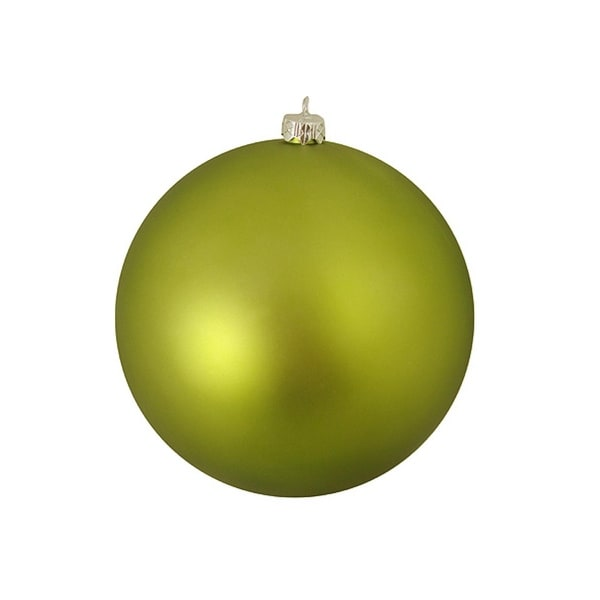 "Matte Green Kiwi Commercial Shatterproof Christmas Ball Ornament 10"" (250mm)"
