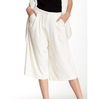 RDI NEW White Ivory Women's Medium M Capris Cropped Pleated Pants