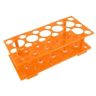 Unique Bargains Plastic Dual Layers 56 Slots 5mL 10ml 50ml Centrifuge Tube Rack Stand