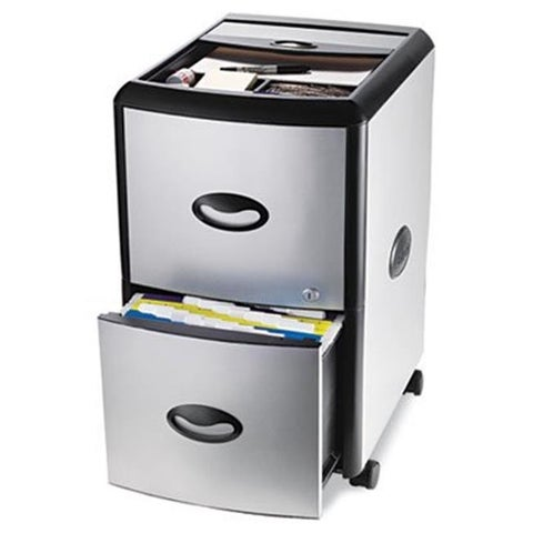 Mobile Filing Cabinet With Metal Siding 19w x 15d x 23h