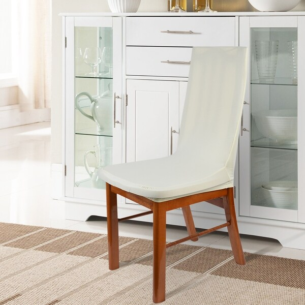Unique Bargains Beige Spandex Stretch Removable Dining Room Chair Cover