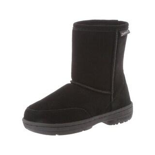 Bearpaw Boots Girls Meadow Warm Stylish Suede Wool 604Y
