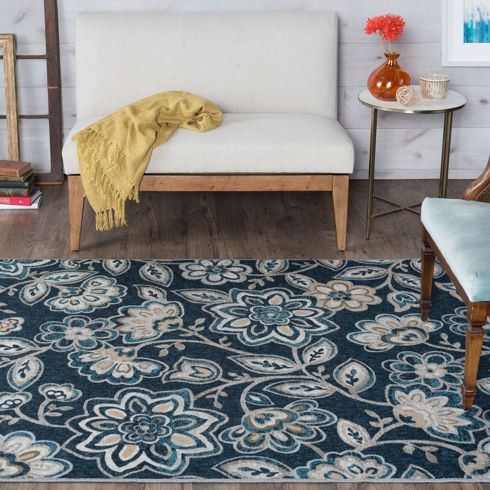 Alise Rugs Majolica Transitional Floral Runner Rug. Opens flyout.