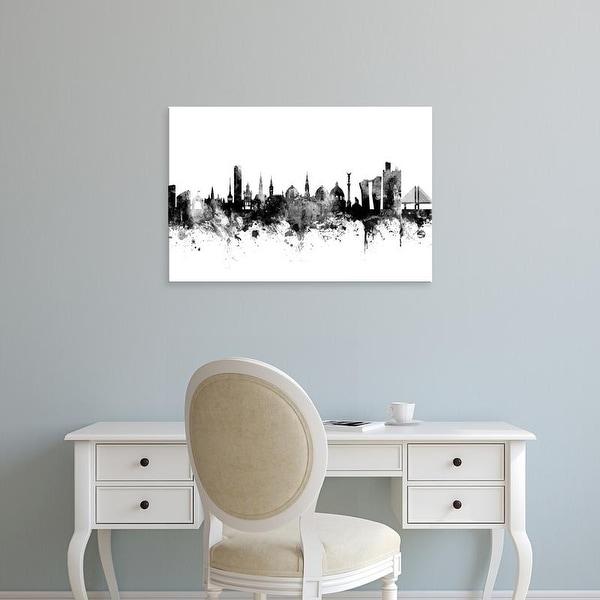 Easy Art Prints Michael Tompsett's 'Copenhagen Denmark Skyline' Premium Canvas Art