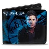 Supernatural Dean Pose2 Join The Hunt Blues White Bi Fold Wallet - One Size Fits most