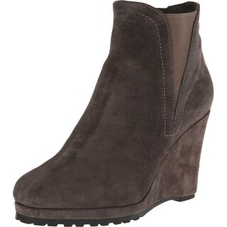 Vaneli NEW Gray Shoes Size 10.5M Ankle Suede Wedge Booties