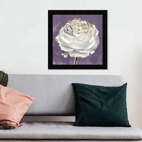 Oliver Gal 'Lilac Ranunculus' Floral and Botanical Wall Art Framed Print Florals - Purple, White