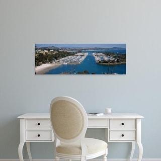 Easy Art Prints Panoramic Image 'View of a harbor, Dana Point Harbor, Dana Point, Orange County, California' Canvas Art