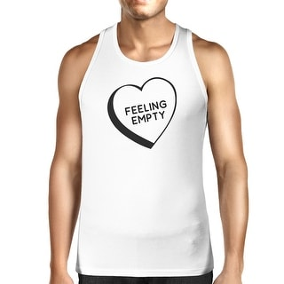 Feeling Empty Heart White Cotton Tanks For Men Humorous Design Top