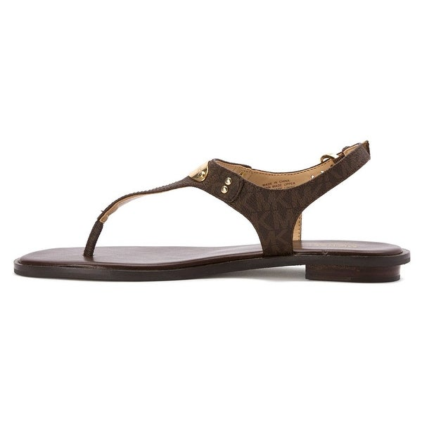 9f8d43d34bee Michael Michael Kors Womens Plate Thong Split Toe Casual Ankle Strap Sandals