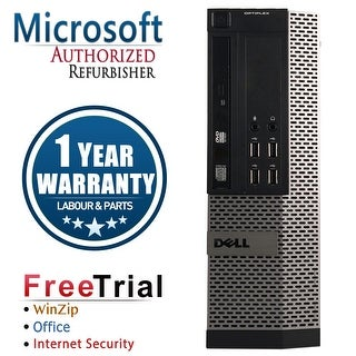 Refurbished Dell OPTIPLEX 990 SFF Intel Core i5 2400 3.1G 8G DDR3 240G SSD DVD Windows 10 Pro 1 Year Warranty - Black