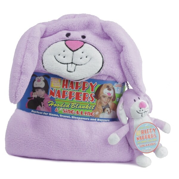 Happy Nappers Hooded Blanket and Sing-a-Long Bunny - 2.0 in. x 2.0 in. x 4.0 in.