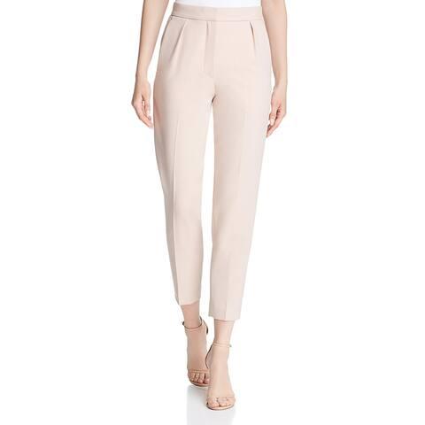 Theory Womens Dress Pants High Rise Straight Leg - Petal Pink