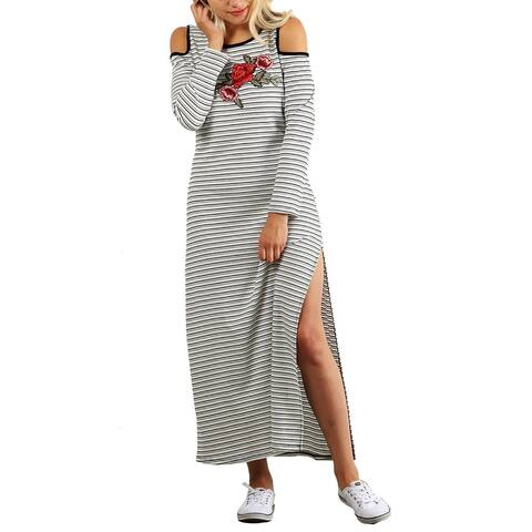 Funfash Women Plus Size White Black Long Maxi Dress New Made in USA