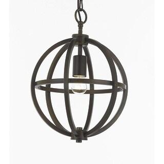 Contemporary Brushed Expresso 1 Light Orb Chandelier Pendant Lighting