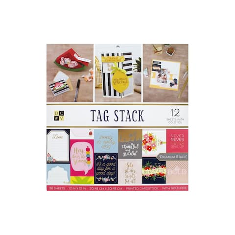 DieCuts Paper Stack 12x12 Tag Stack