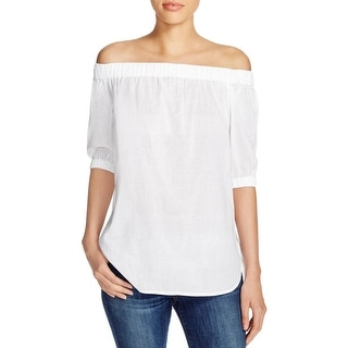 MICHAEL Michael Kors Womens Casual Top Off-The Shoulder Sheer