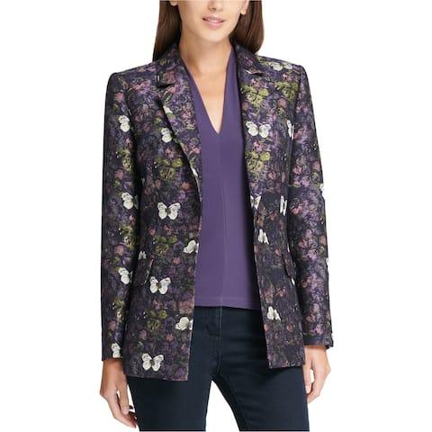 Dkny Womens Butterfly One Button Blazer Jacket