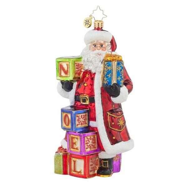 Christopher Radko Glass Simply Noel Santa Claus Christmas Ornament #1017618