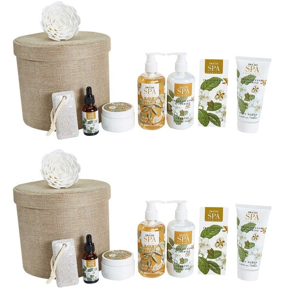 (2 Set) Draizee Bath Gift Set for Girls, Women with Refreshing Princess Flower Fragrance - 8 Pieces Luxury Skin Care Set. Opens flyout.