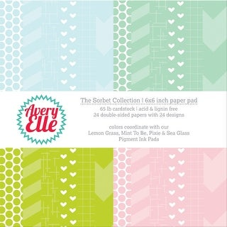 "Avery Elle Double-Sided Paper Pad 6""X6"" 24/Sheets-Sorbet, 12 Designs/2 Each"